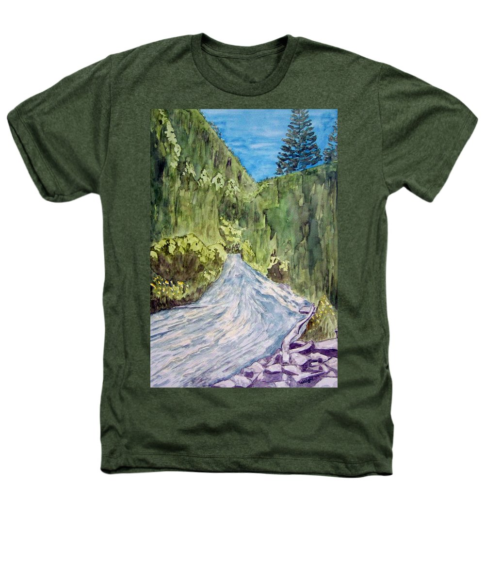 New Mexico Art Heathers T-Shirt featuring the painting New Mexico Canyon Impression by Larry Wright