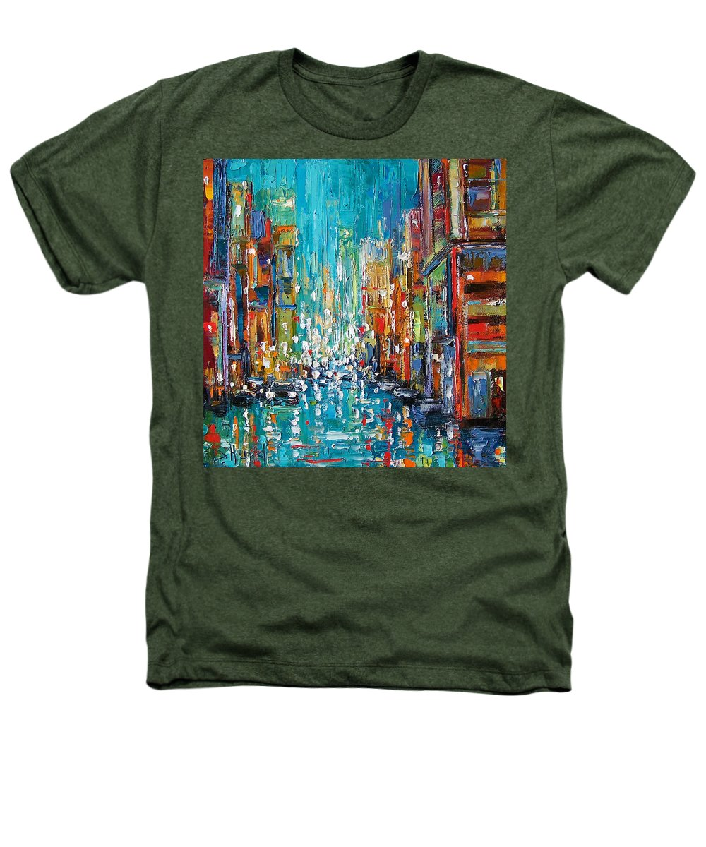 City Art Heathers T-Shirt featuring the painting New York City by Debra Hurd