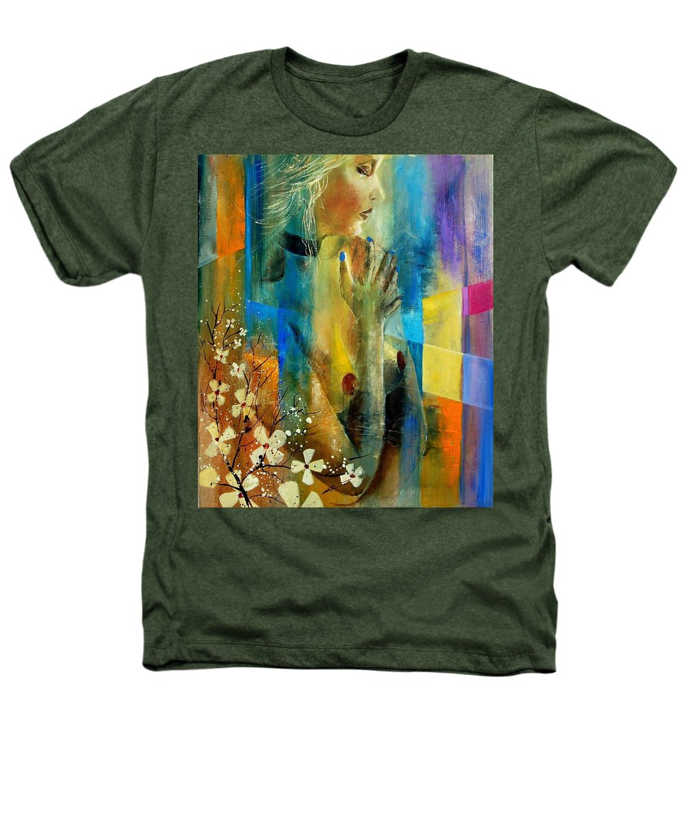 Nude Heathers T-Shirt featuring the painting Nude 5609082 by Pol Ledent