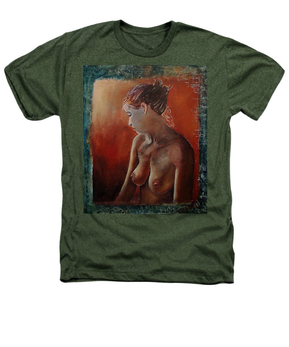 Girl Heathers T-Shirt featuring the painting Nude 569022455 by Pol Ledent