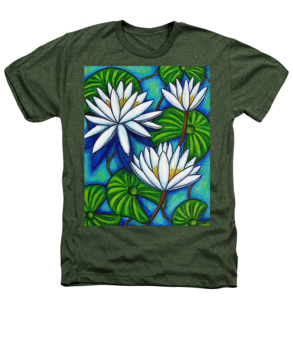 Lily Heathers T-Shirt featuring the painting Nymphaea Blue by Lisa Lorenz