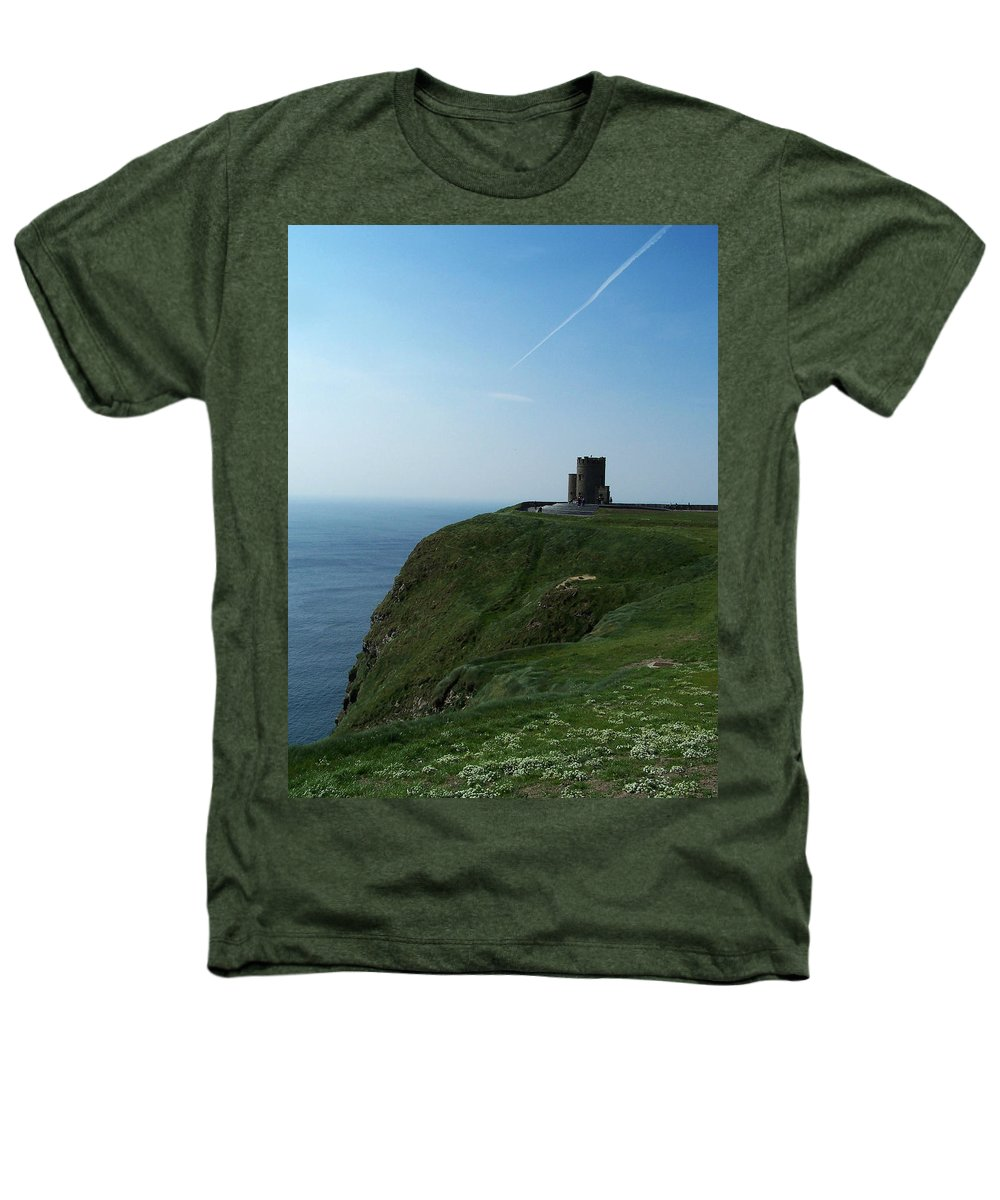 Irish Heathers T-Shirt featuring the photograph O'brien's Tower At The Cliffs Of Moher Ireland by Teresa Mucha