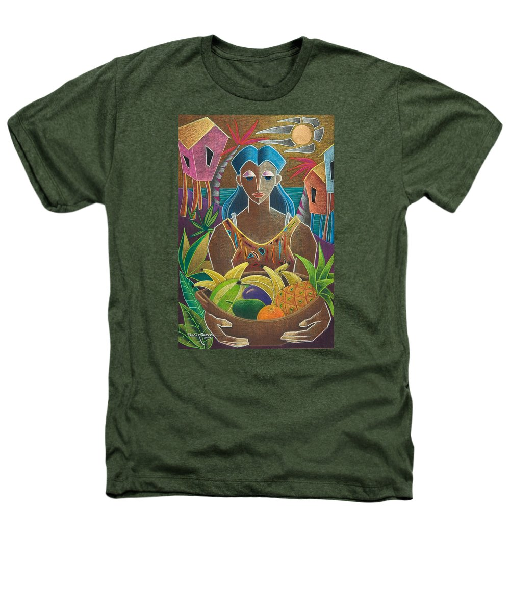 Female Heathers T-Shirt featuring the painting Ofrendas De Mi Tierra by Oscar Ortiz