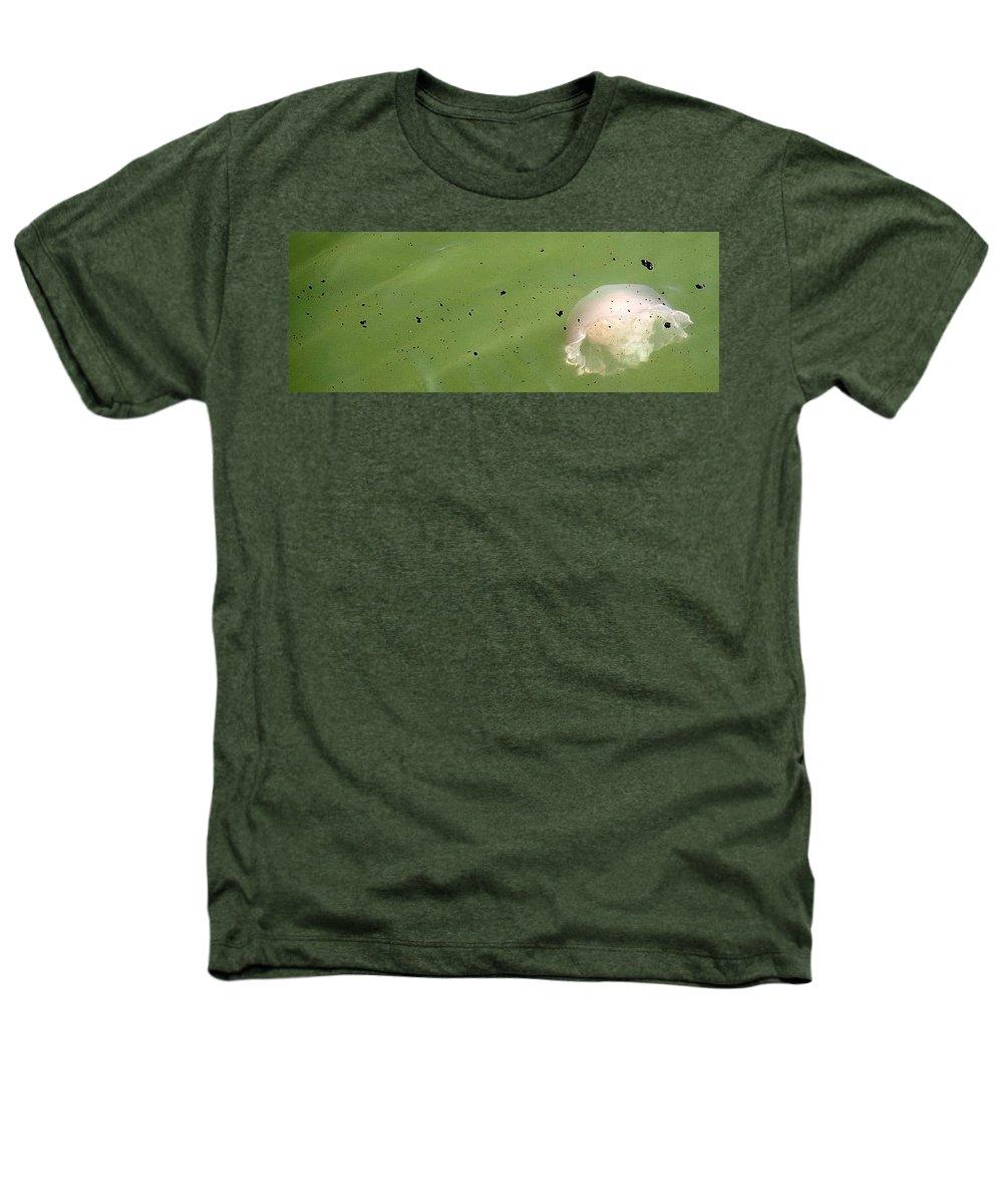 Oil Spill Heathers T-Shirt featuring the photograph Oil Vs Jellyfish by Kurt Hausmann