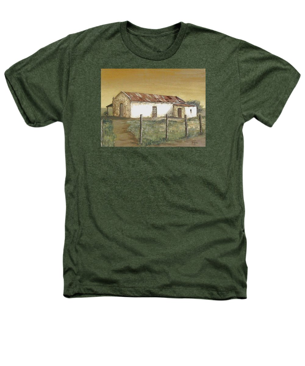 Old House Landscape Country Heathers T-Shirt featuring the painting Old House by Natalia Tejera