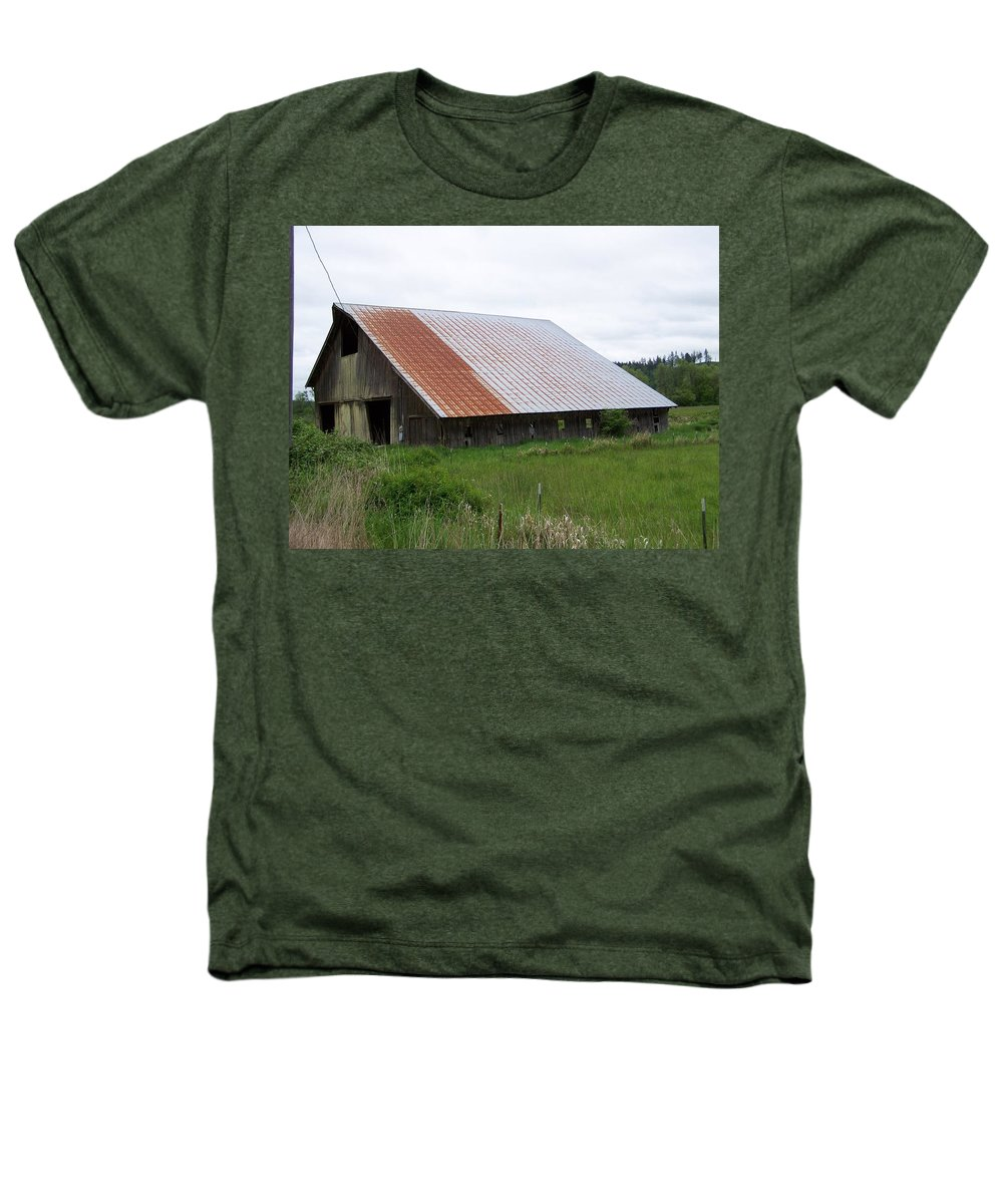 Barn Heathers T-Shirt featuring the photograph Old Tin Roof Barn Washington State by Laurie Kidd