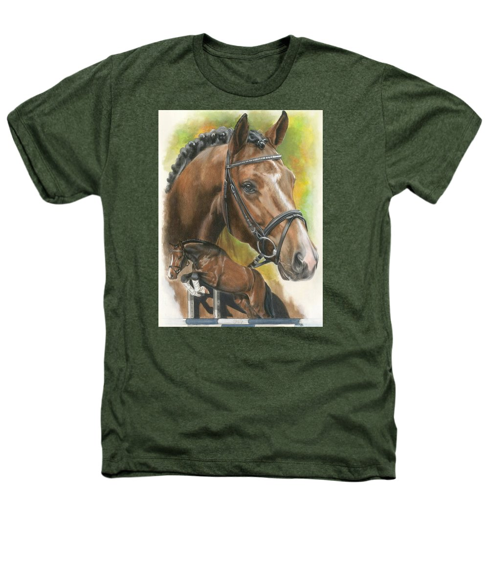 Hunter Jumper Heathers T-Shirt featuring the mixed media Oldenberg by Barbara Keith