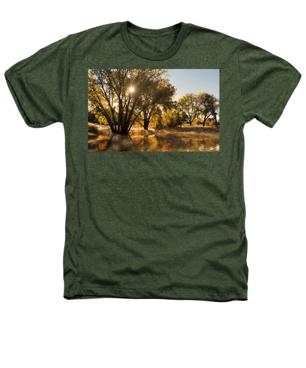 Ftrees Heathers T-Shirt featuring the photograph Oliver Sunbursts by Jerry McElroy