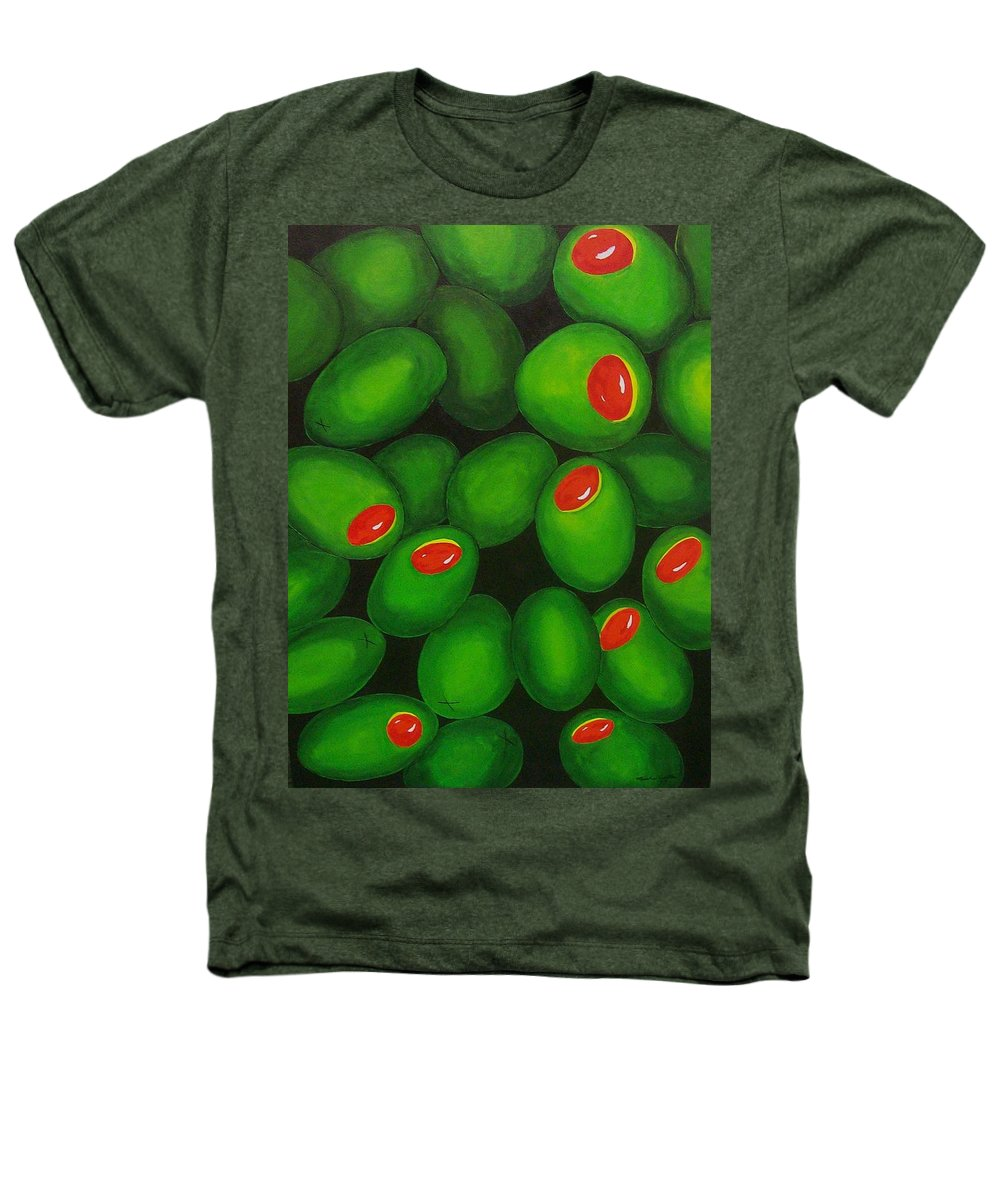 Olive Heathers T-Shirt featuring the painting Olives by Micah Guenther