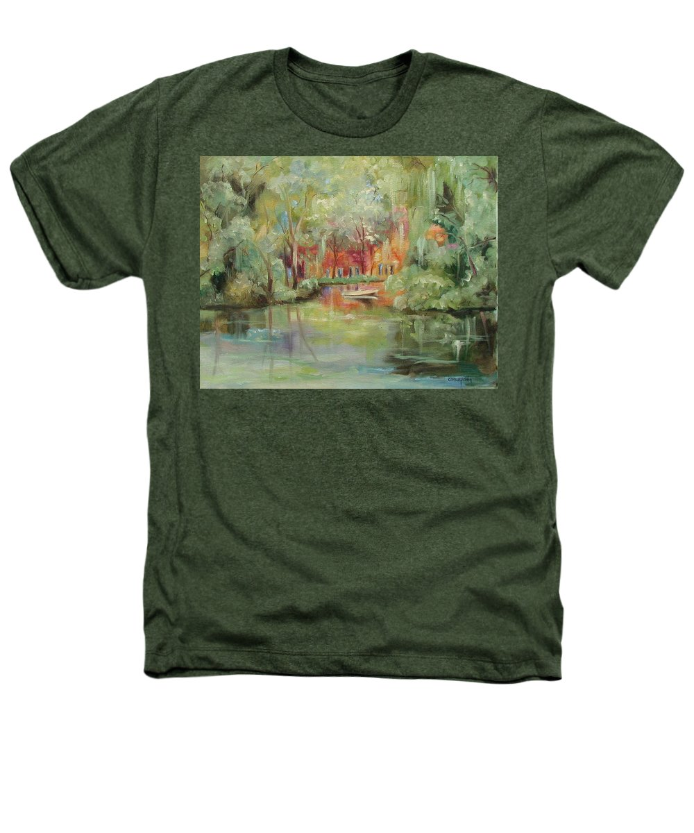 Bayou Heathers T-Shirt featuring the painting On A Bayou by Ginger Concepcion