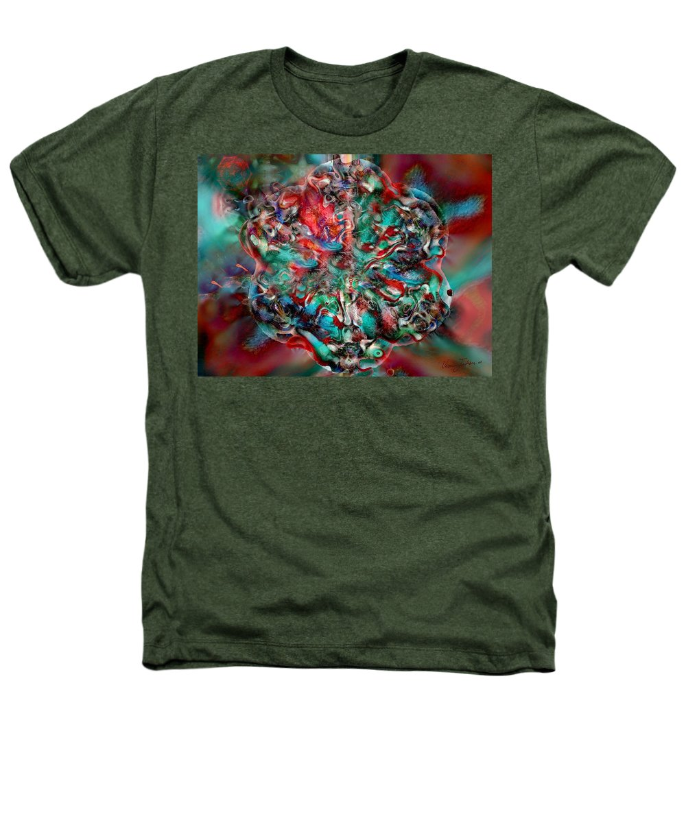 Heart Passion Life Heathers T-Shirt featuring the digital art Open Heart by Veronica Jackson