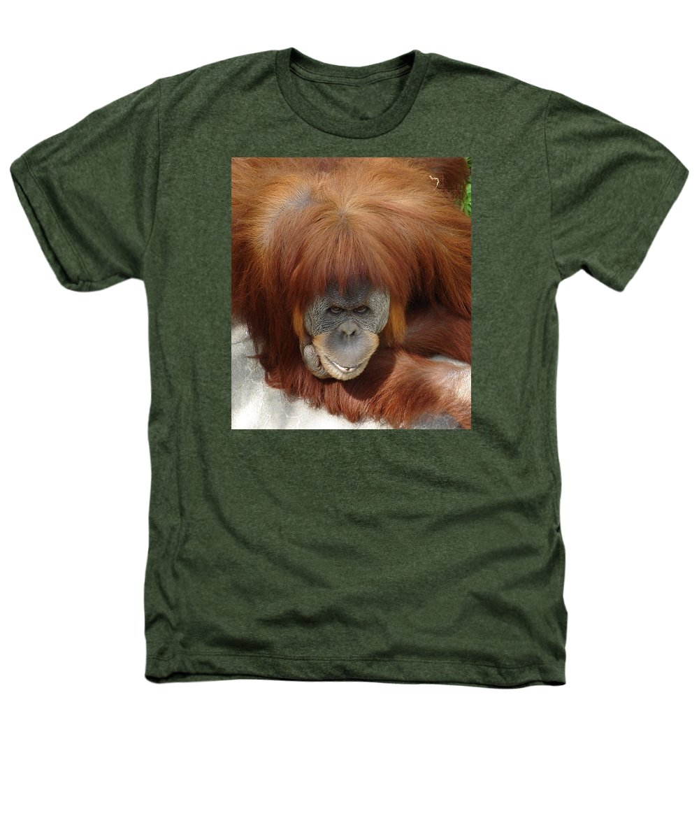 Red Ape Eyes Heathers T-Shirt featuring the photograph Orangutan by Luciana Seymour