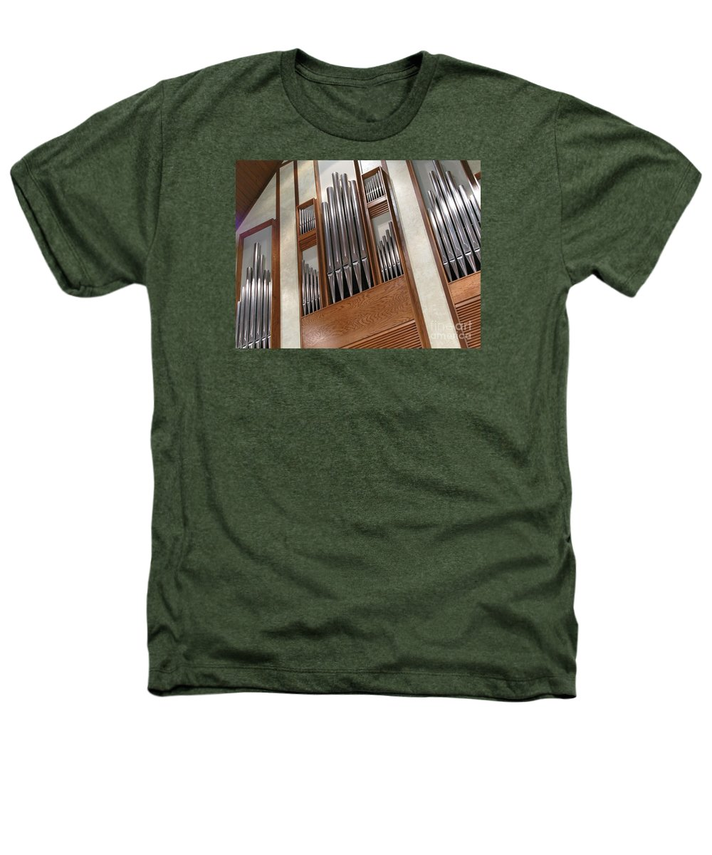 Music Heathers T-Shirt featuring the photograph Organ Pipes by Ann Horn