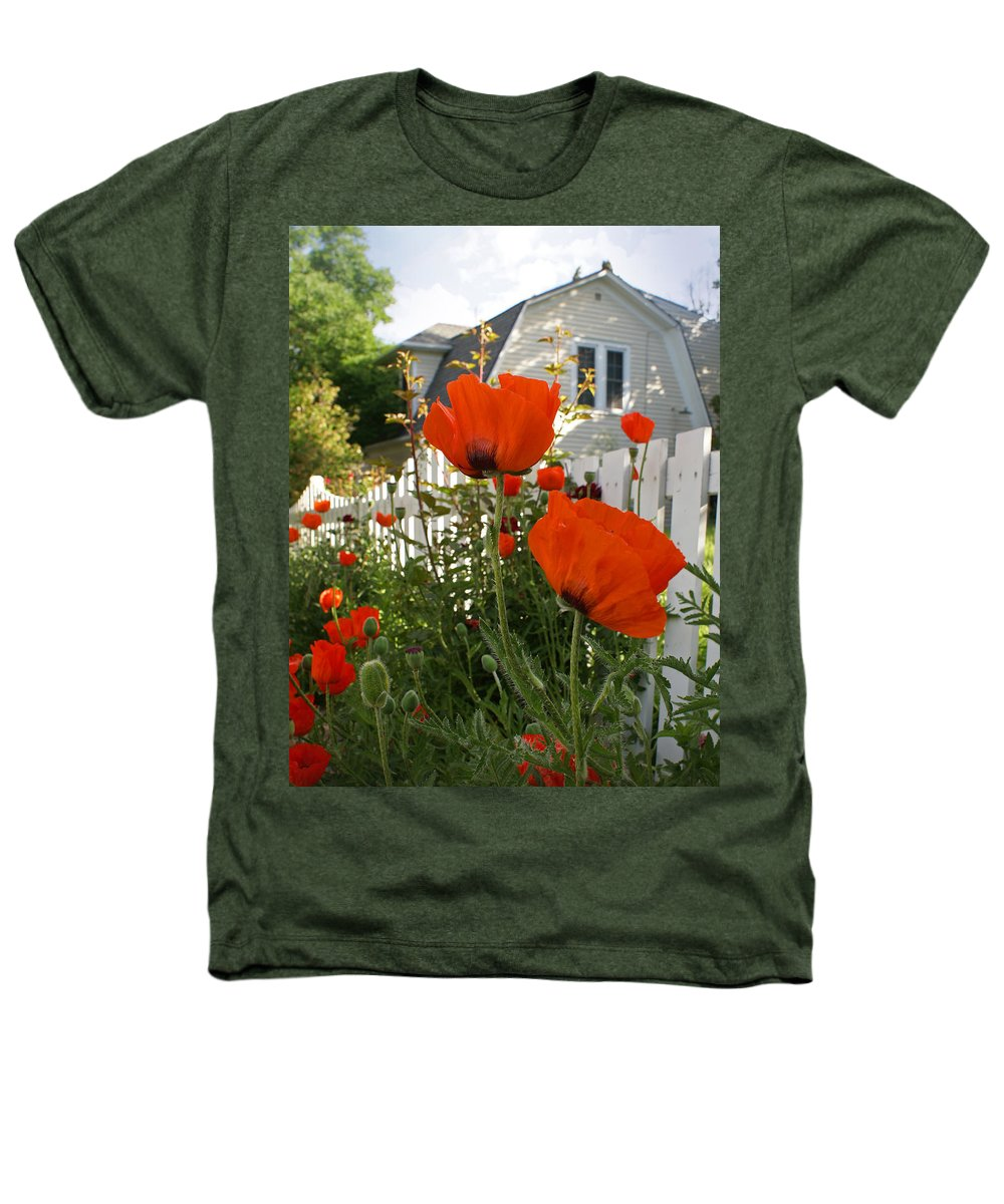 Poppies Heathers T-Shirt featuring the photograph Oriental Poppies by Heather Coen