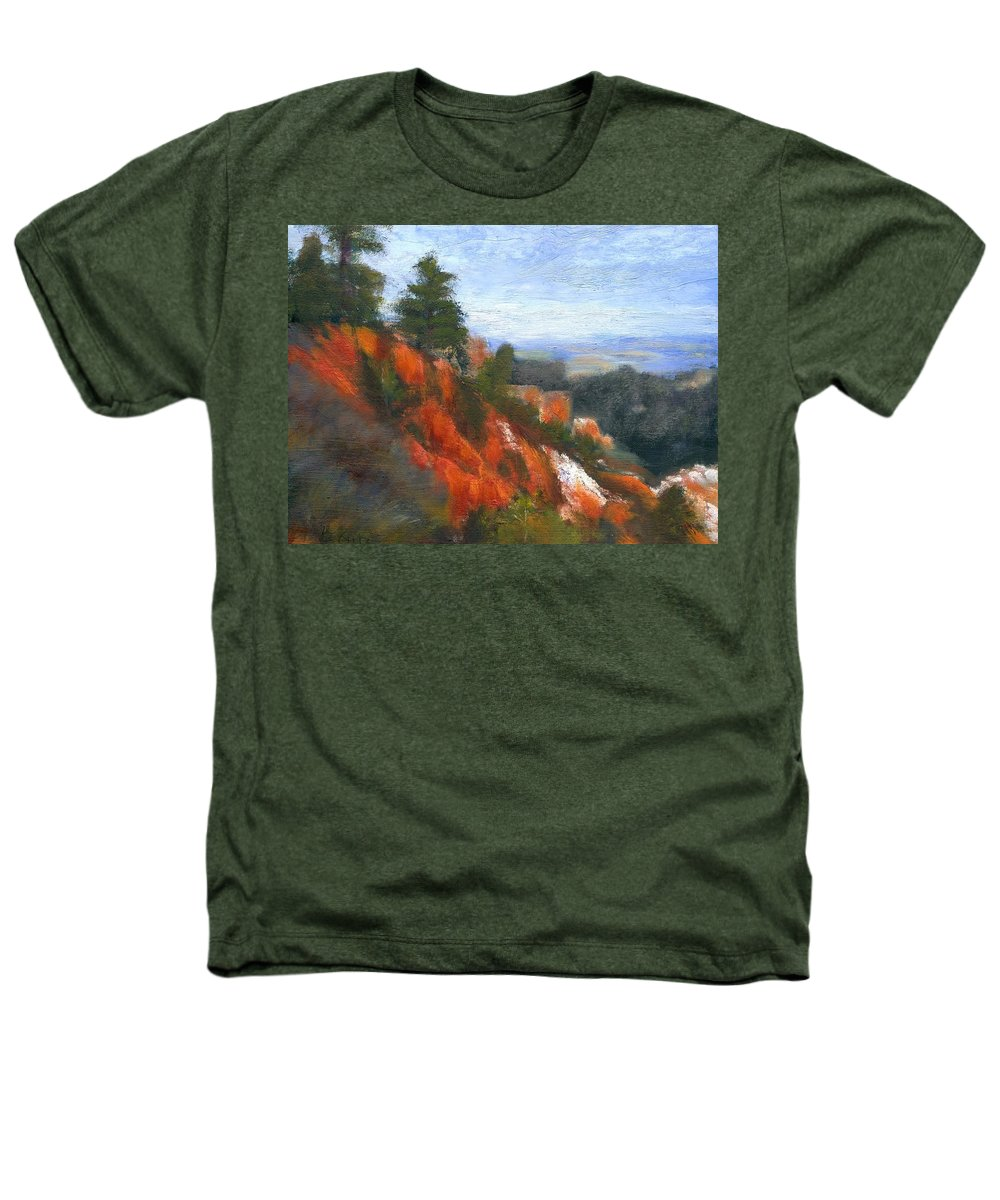 Southwest Heathers T-Shirt featuring the painting Overlook by Gail Kirtz