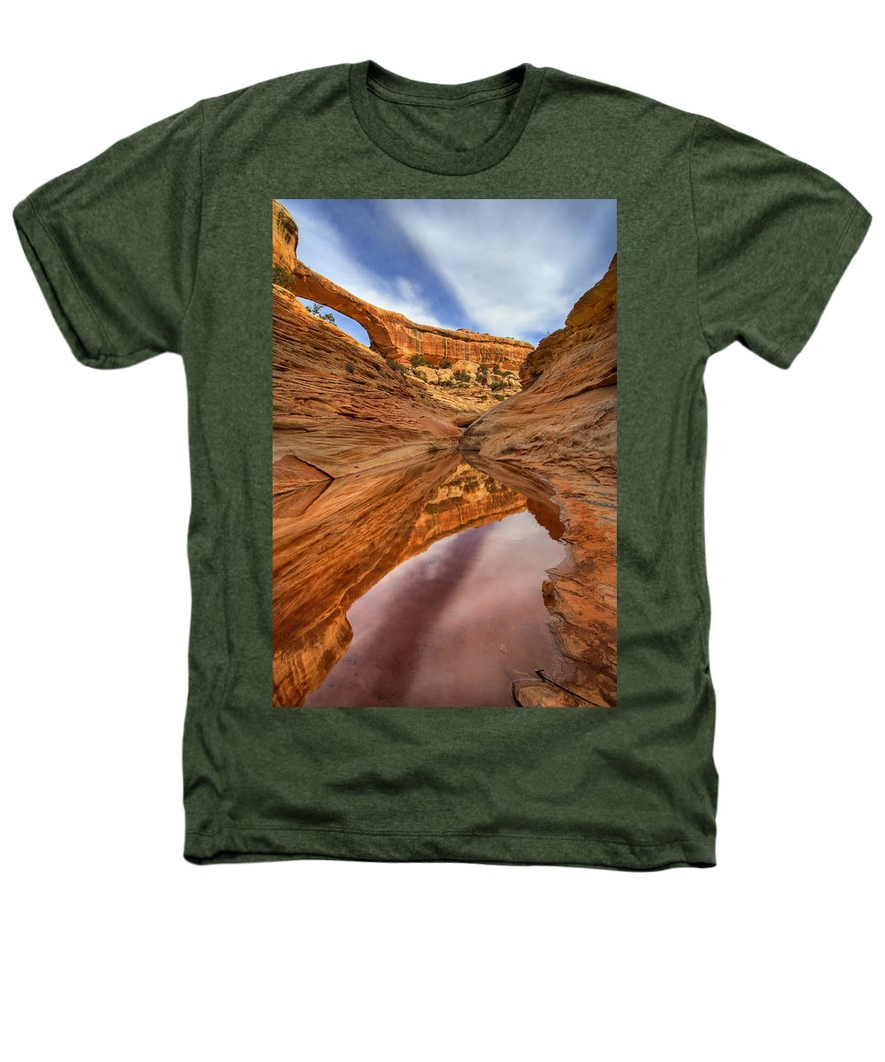 Bridge Heathers T-Shirt featuring the photograph Owachomo Reflected by Mike Dawson