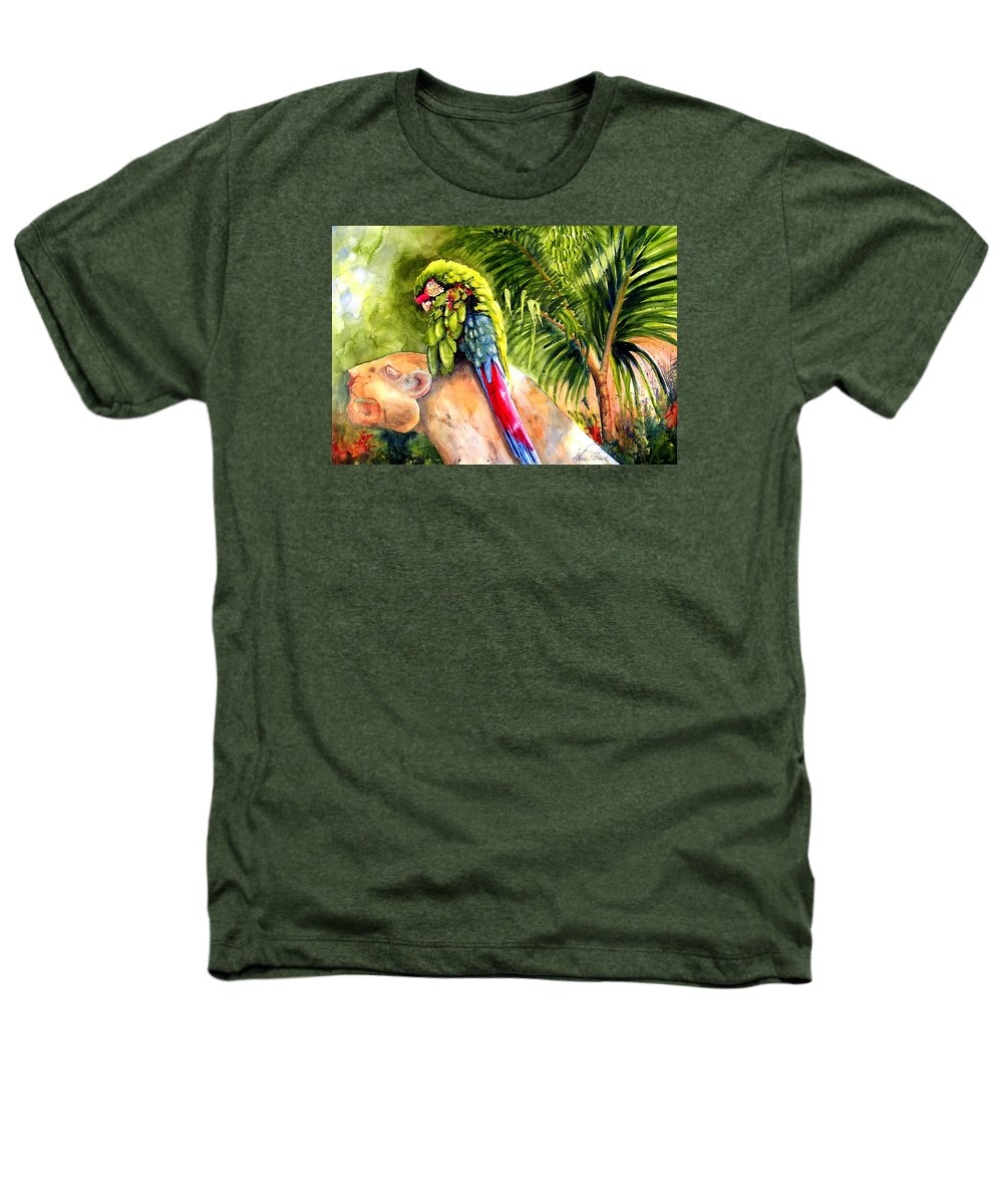Parrot Heathers T-Shirt featuring the painting Pajaro by Karen Stark