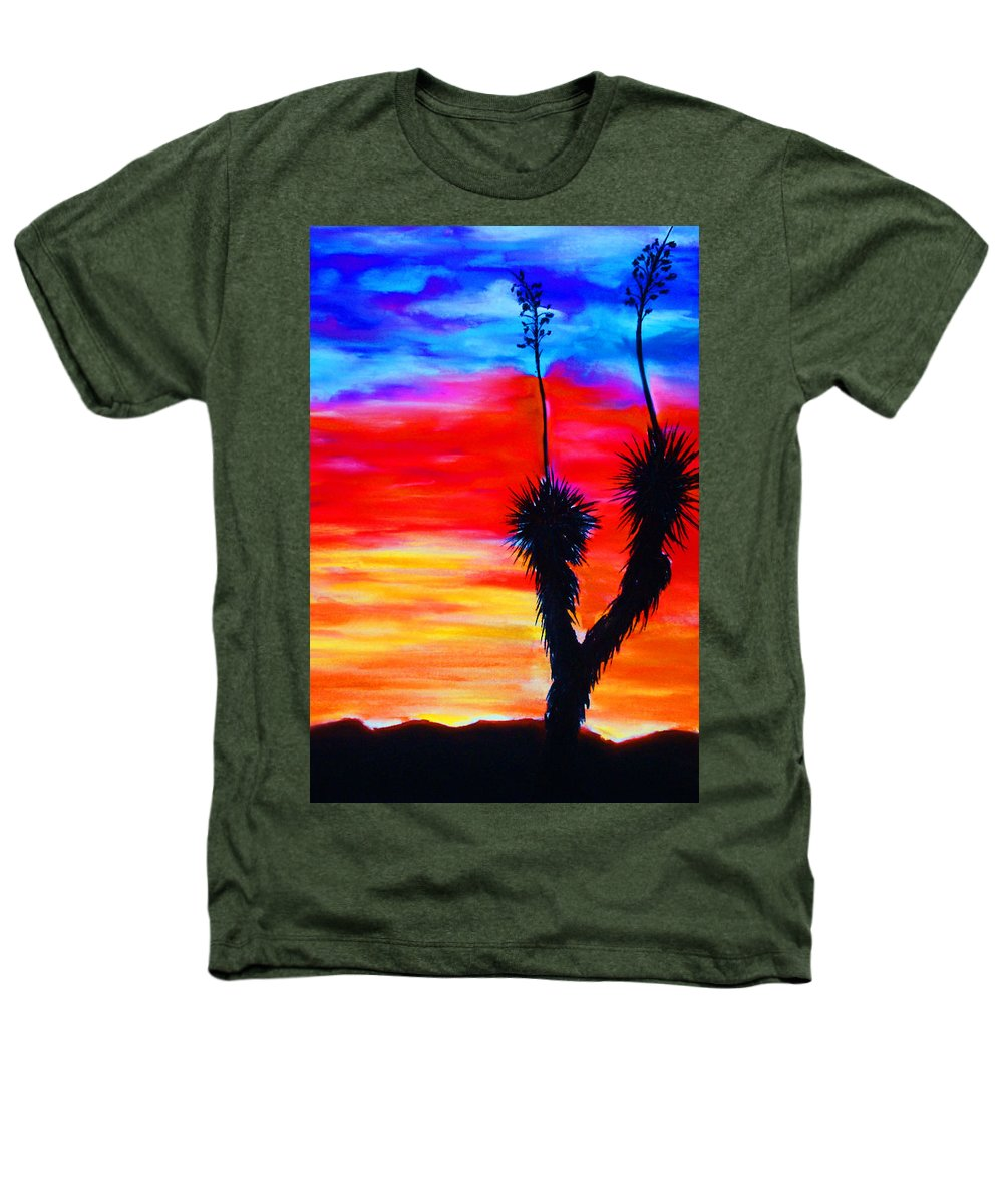 Sunset Heathers T-Shirt featuring the painting Paso Del Norte Sunset 1 by Melinda Etzold