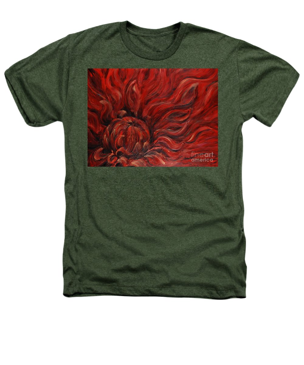Flower Heathers T-Shirt featuring the painting Passion Iv by Nadine Rippelmeyer