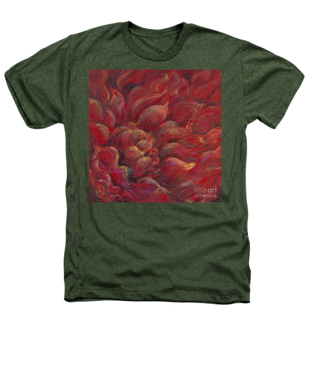 Red Heathers T-Shirt featuring the painting Passion V by Nadine Rippelmeyer