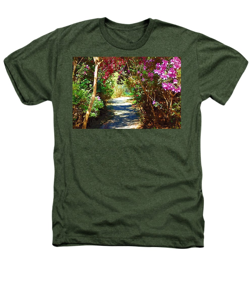 Landscape Heathers T-Shirt featuring the digital art Path To The Gardens by Donna Bentley