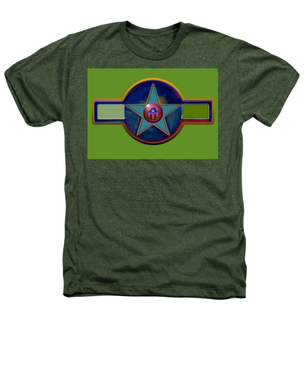 Usaaf Insignia Heathers T-Shirt featuring the digital art Pax Americana Decal by Charles Stuart