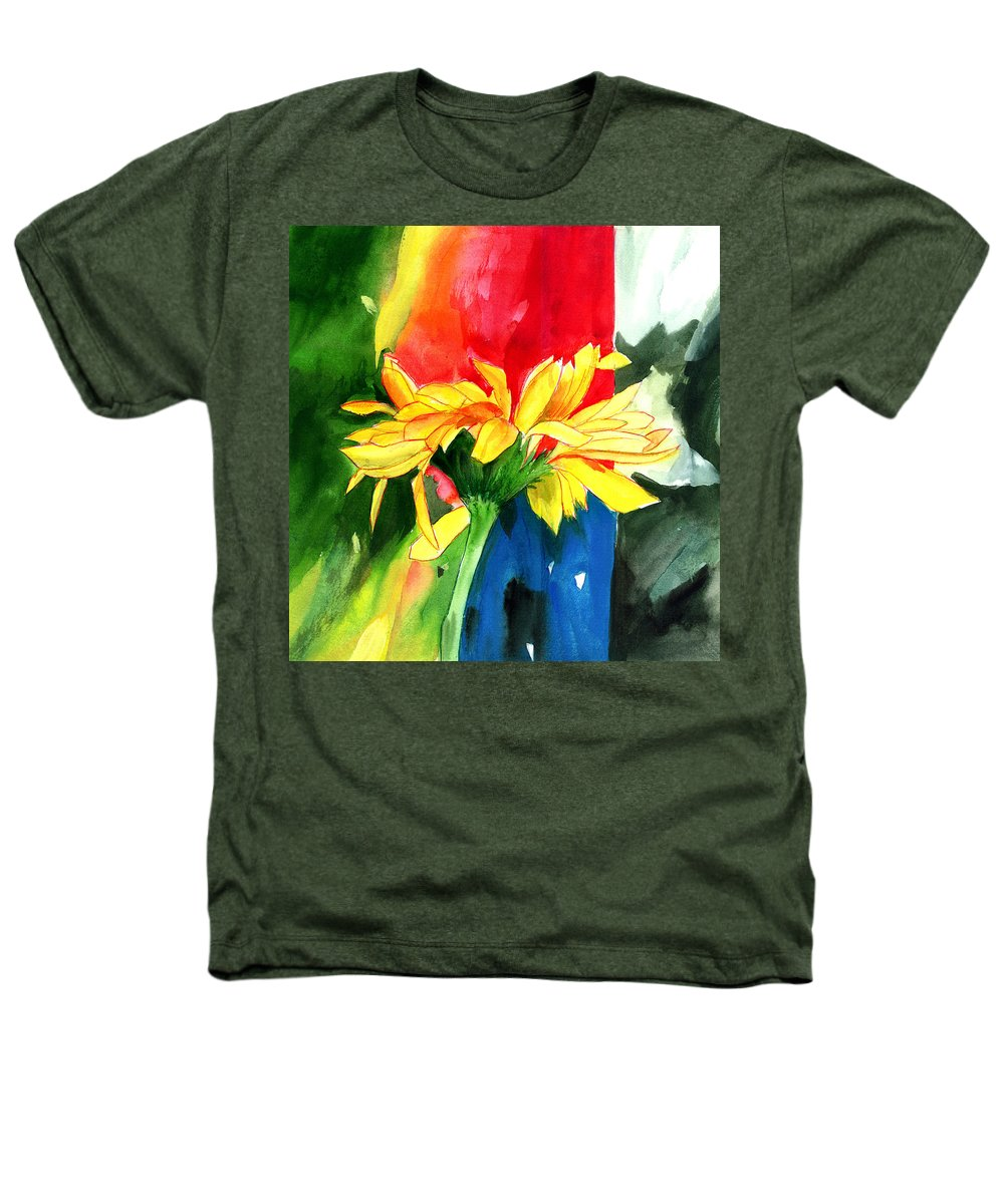 Peace Heathers T-Shirt featuring the painting Peace Square by Anil Nene