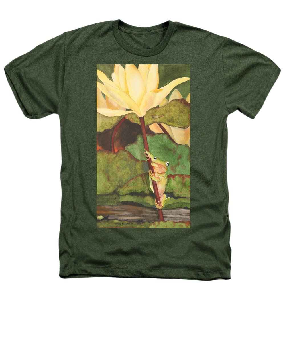 Frog Heathers T-Shirt featuring the painting Peeping Tom by Jean Blackmer