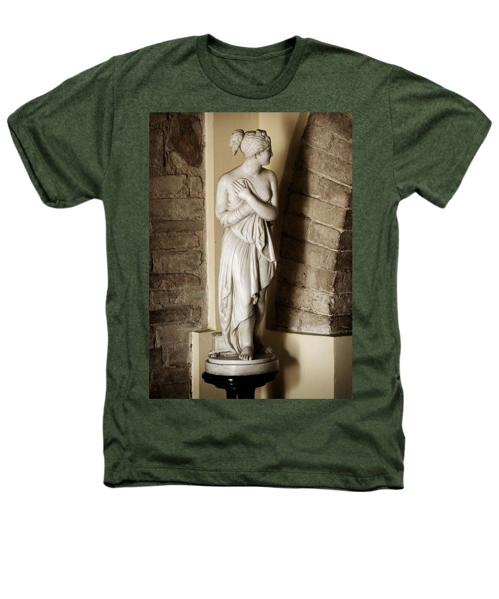 Statue Heathers T-Shirt featuring the photograph Peering Woman by Marilyn Hunt