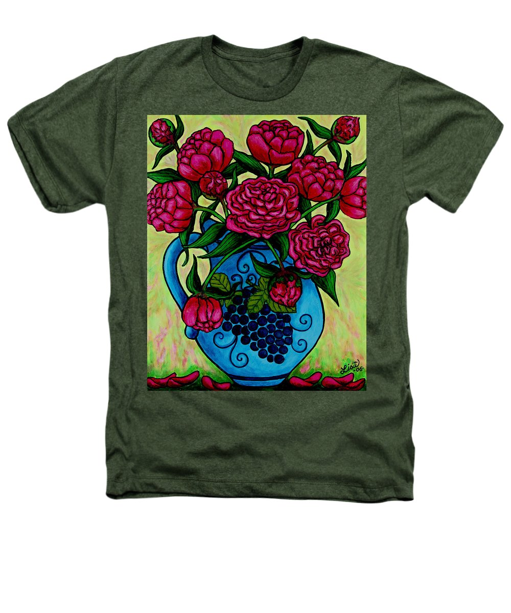 Peonies Heathers T-Shirt featuring the painting Peony Party by Lisa Lorenz