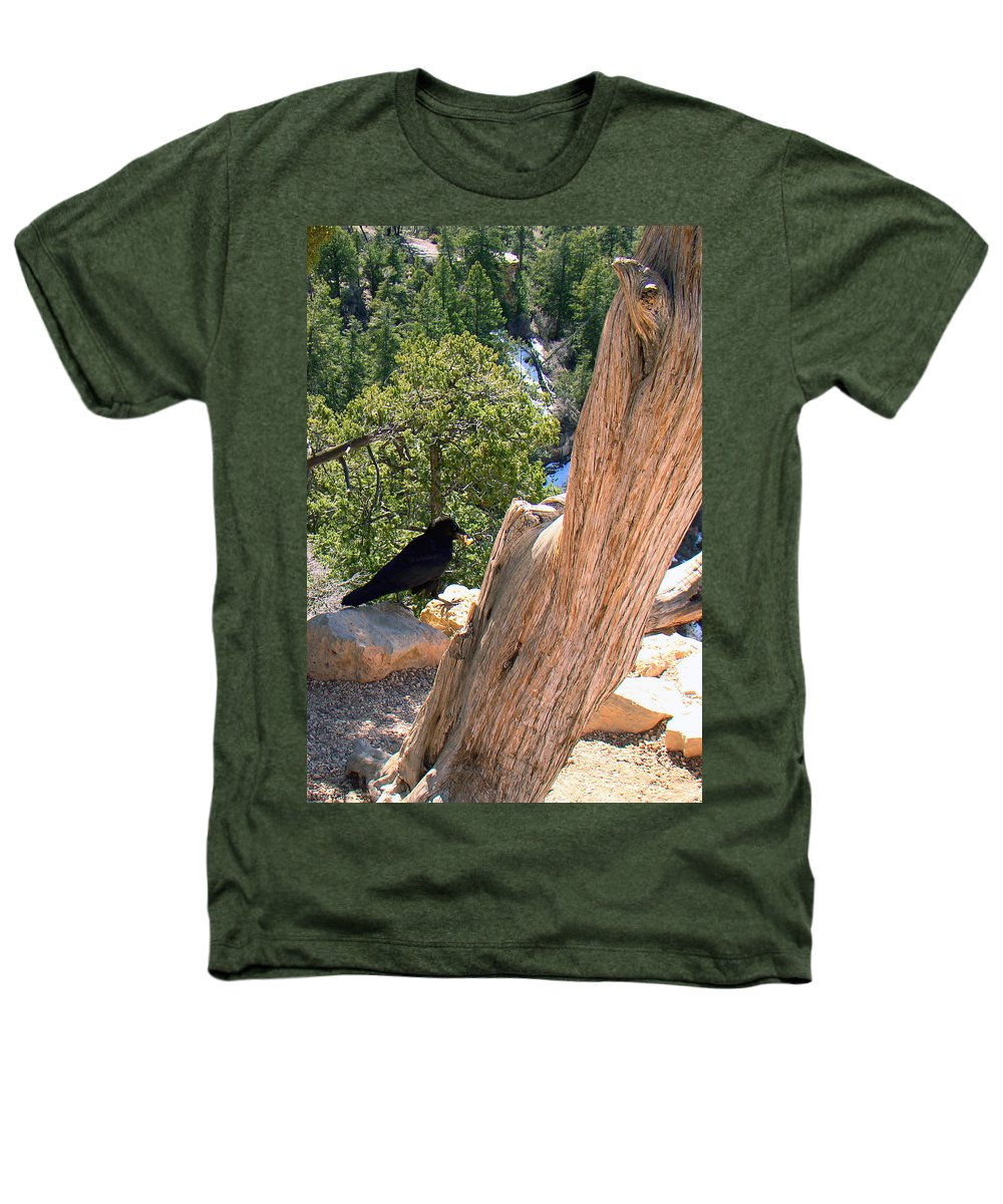 Grand Canyon Heathers T-Shirt featuring the photograph Petrified Raven At Grand Canyon by Merja Waters