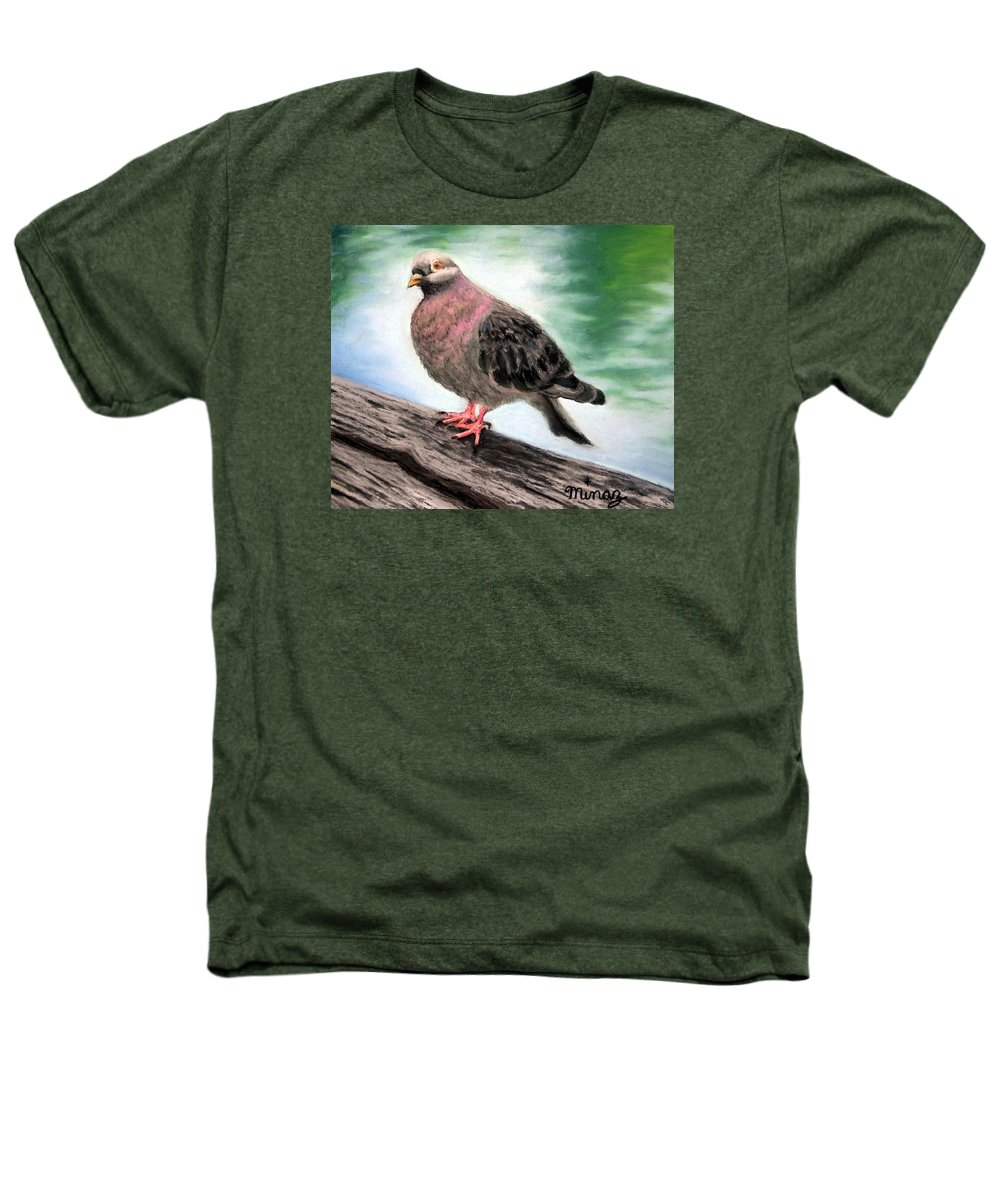 Pigeon Heathers T-Shirt featuring the painting Pigeon Toes by Minaz Jantz