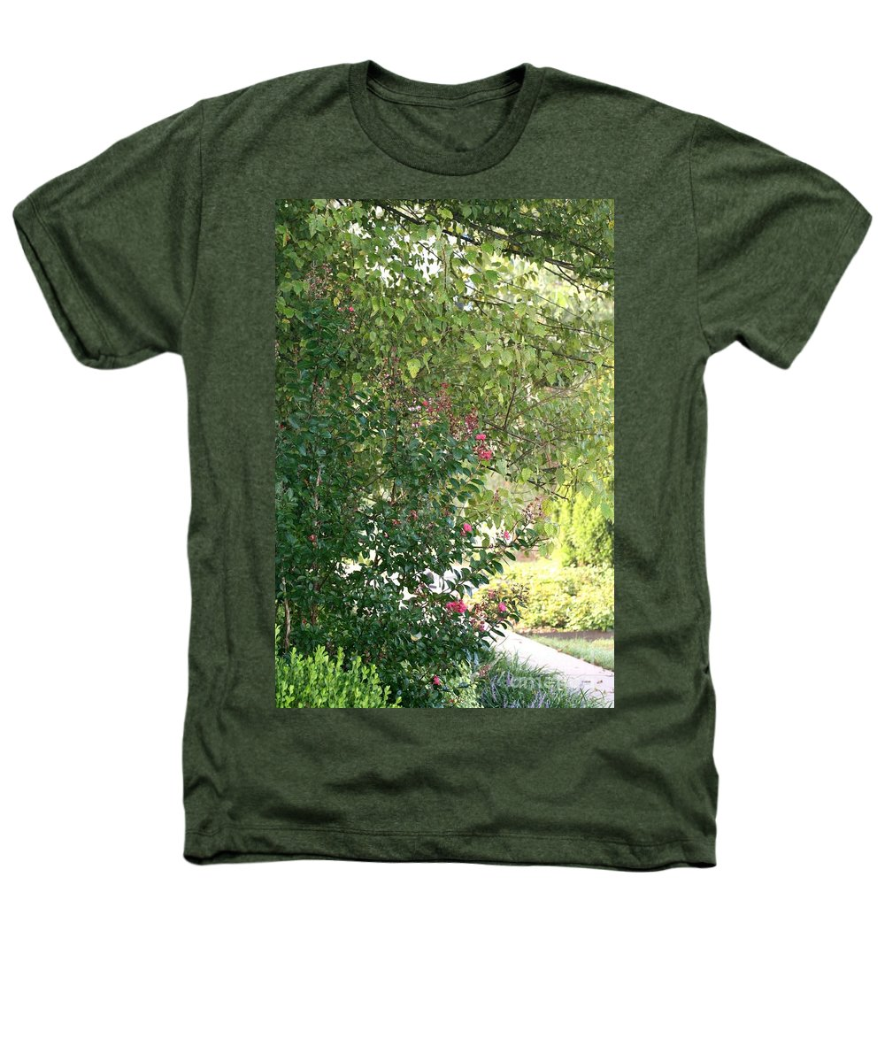 Path Heathers T-Shirt featuring the photograph Pink And Green Path by Nadine Rippelmeyer