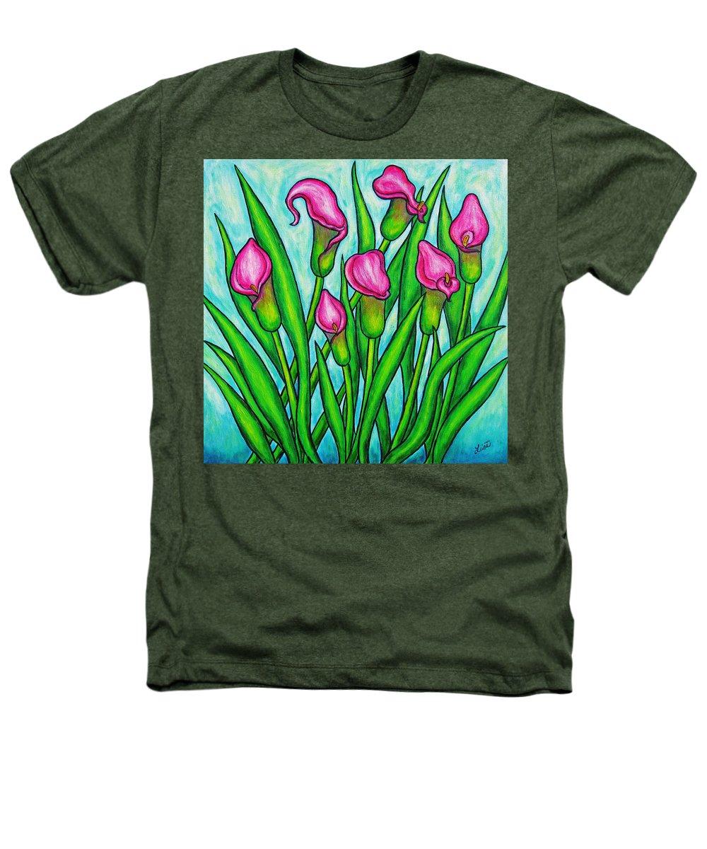 Lisa Lorenz Heathers T-Shirt featuring the painting Pink Ladies by Lisa Lorenz
