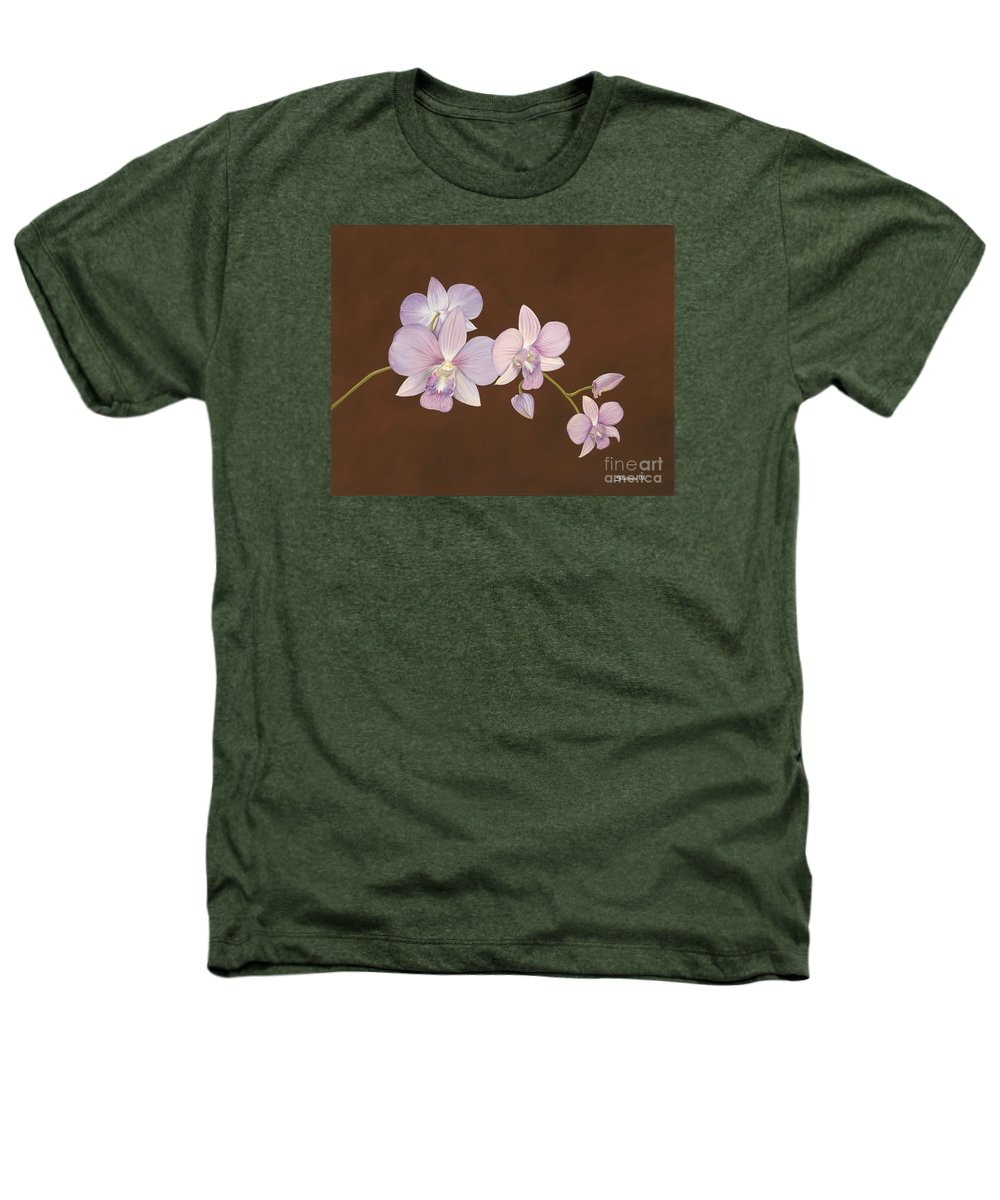 Orchid Heathers T-Shirt featuring the painting Pink Orchids by Shawn Stallings