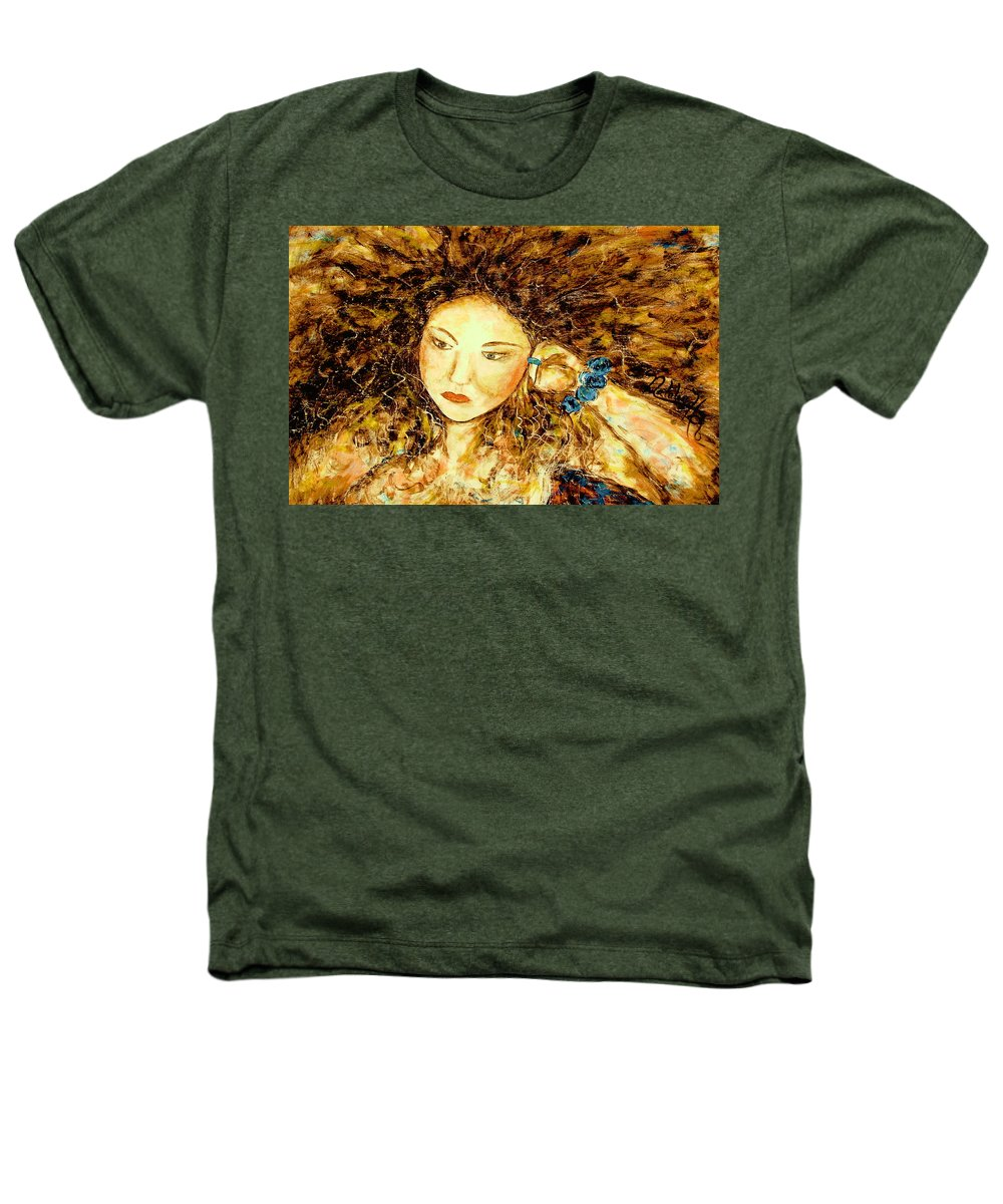 Portrait Heathers T-Shirt featuring the painting Poet by Natalie Holland