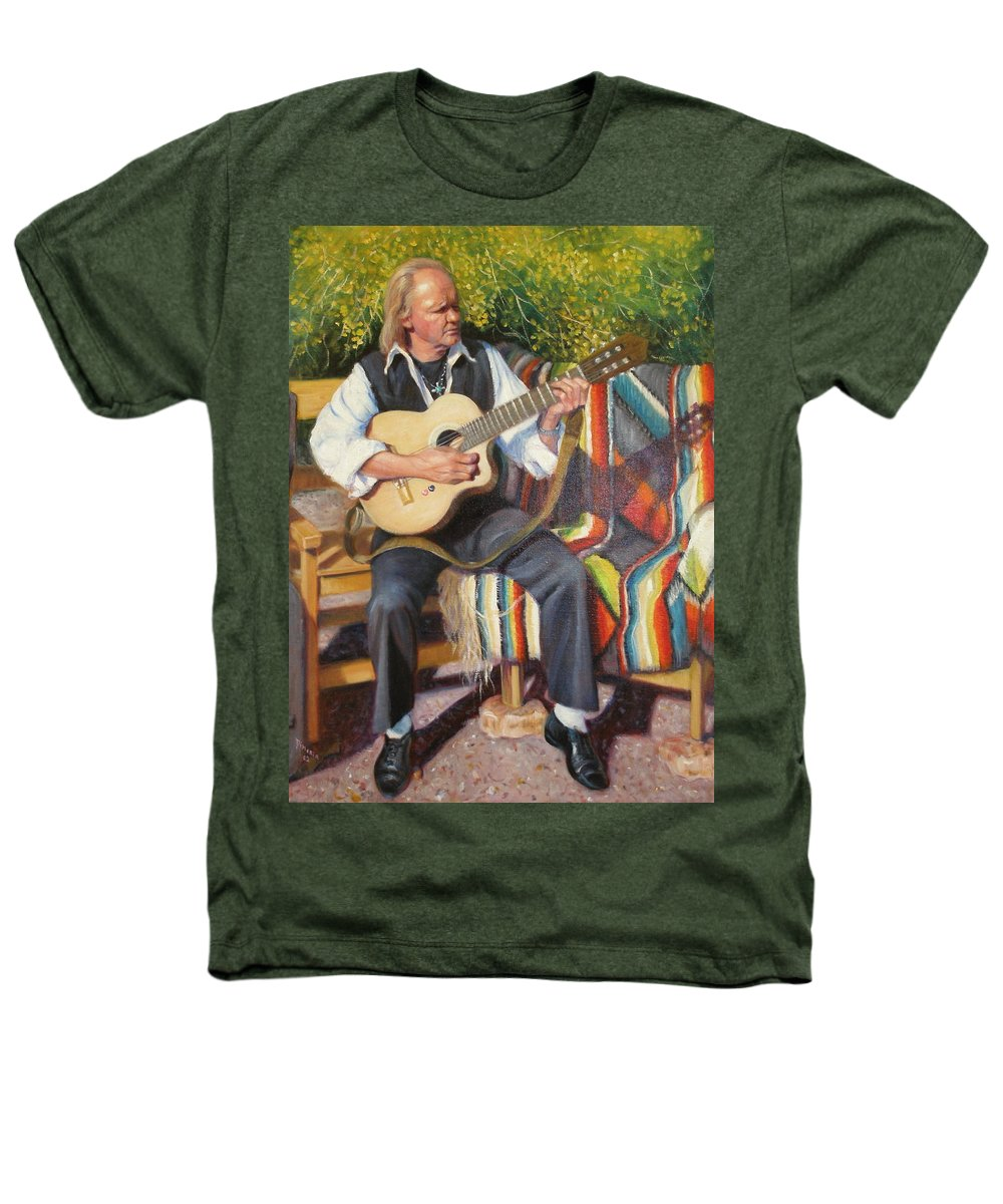 Realism Heathers T-Shirt featuring the painting Por Tu Amor by Donelli DiMaria