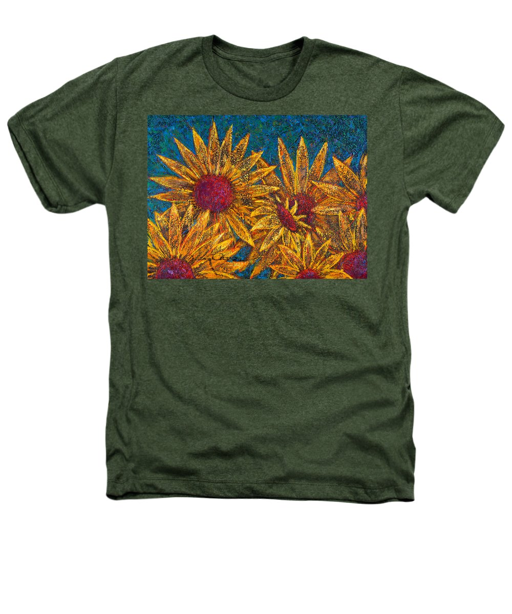 Flowers Heathers T-Shirt featuring the painting Positivity by Oscar Ortiz