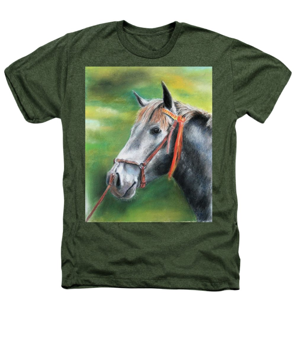 Horse Heathers T-Shirt featuring the painting Pure Spanish by Ceci Watson