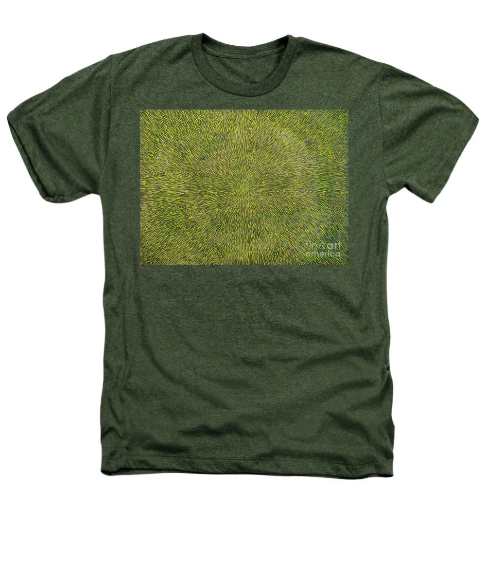 Abstract Heathers T-Shirt featuring the painting Radiation With Green With Yellow by Dean Triolo
