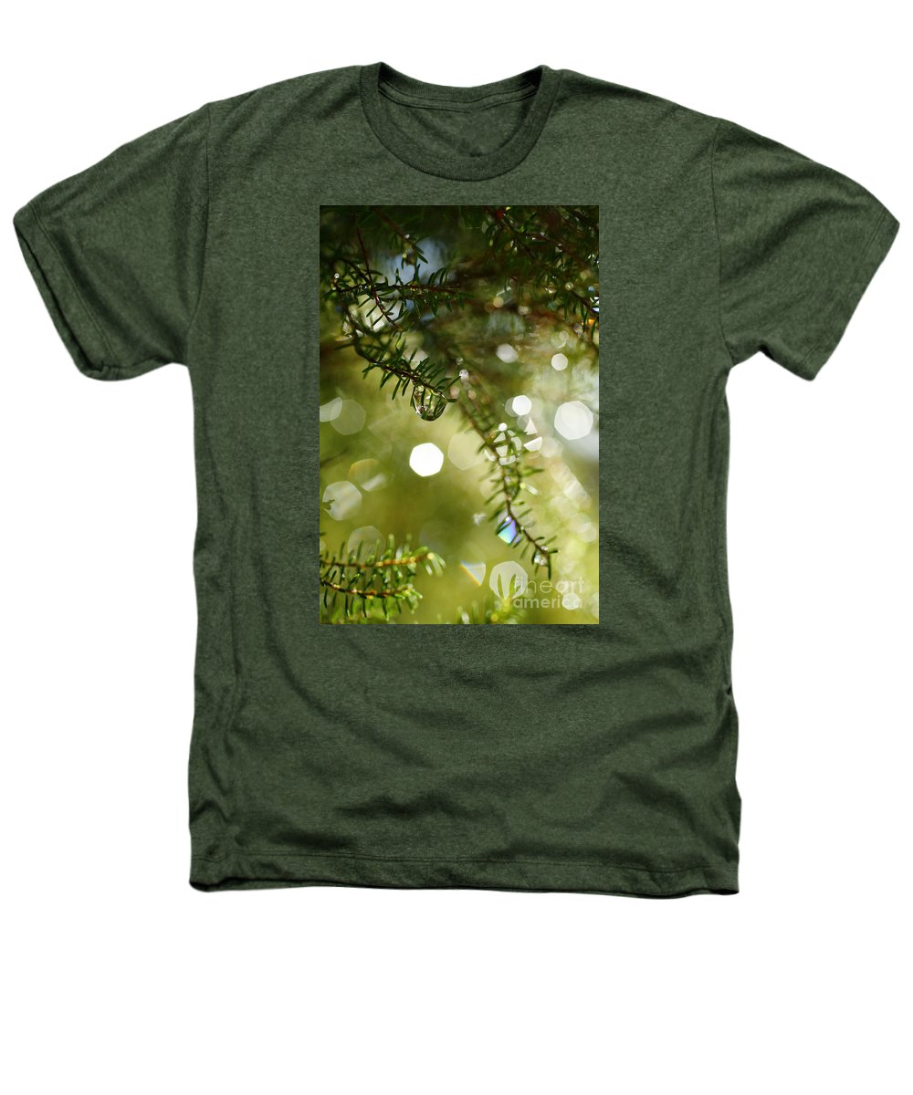 Dew Heathers T-Shirt featuring the photograph Raindrops by Gaspar Avila