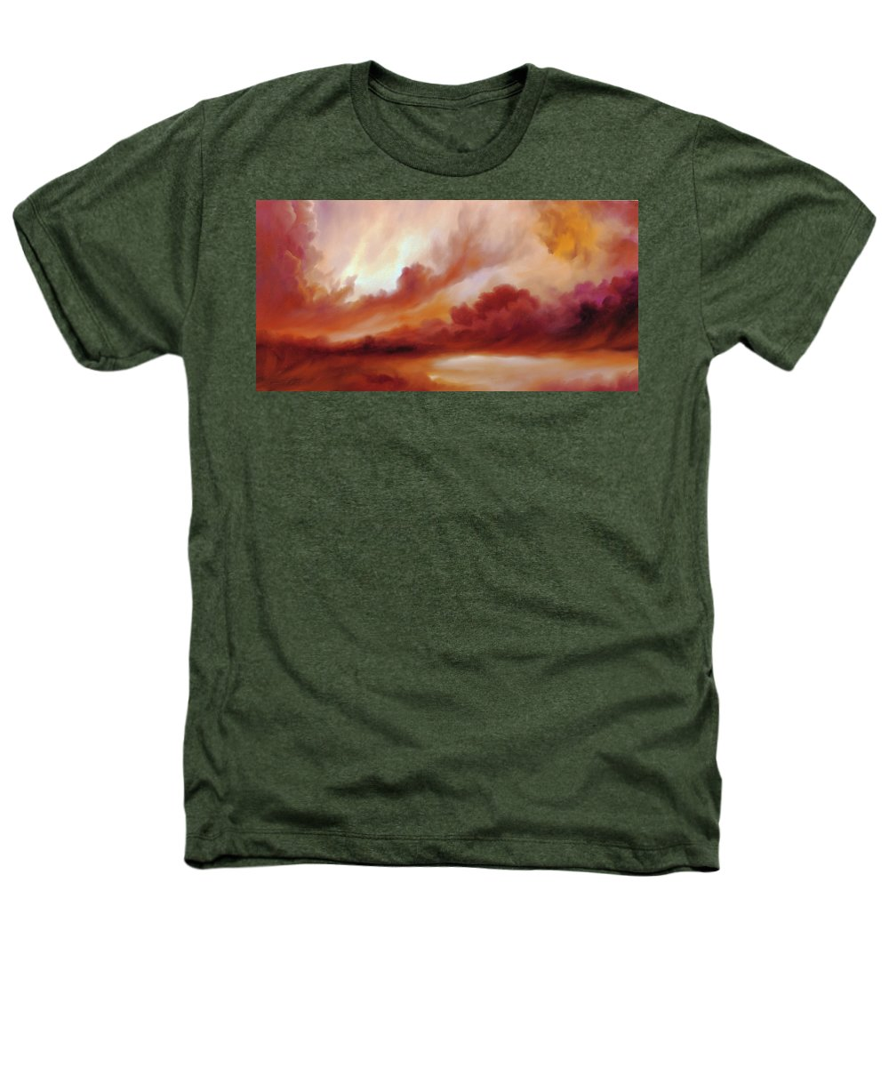 Skyscape Heathers T-Shirt featuring the painting Receding Storm Sketch IIi by James Christopher Hill