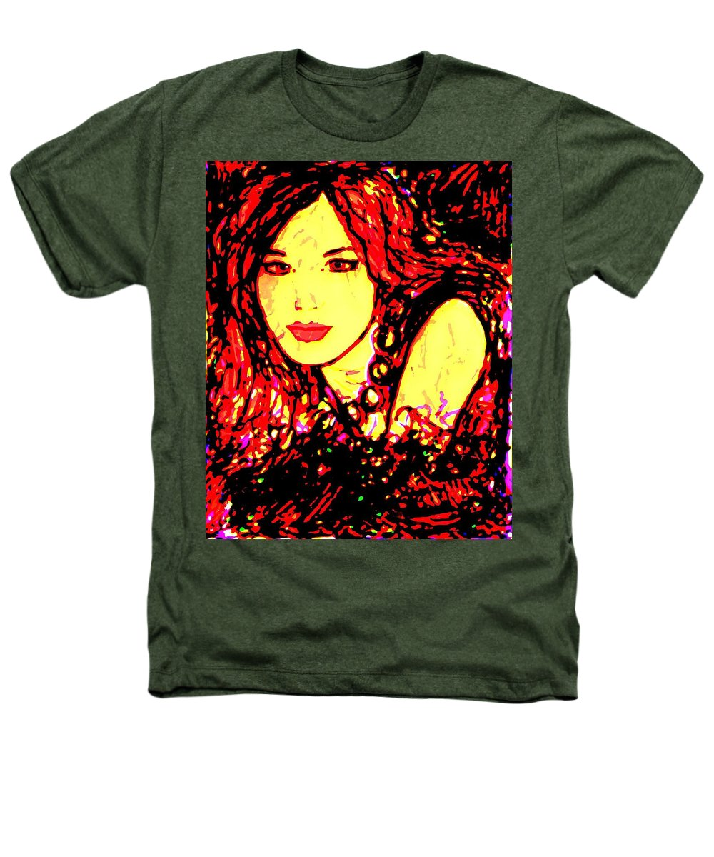 Woman Heathers T-Shirt featuring the painting Red Flirt by Natalie Holland