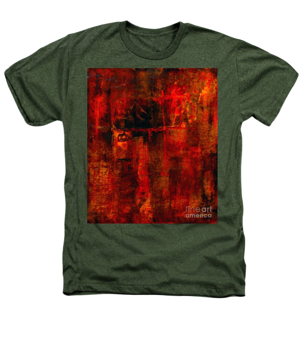 Abstract Painting Heathers T-Shirt featuring the painting Red Odyssey by Pat Saunders-White