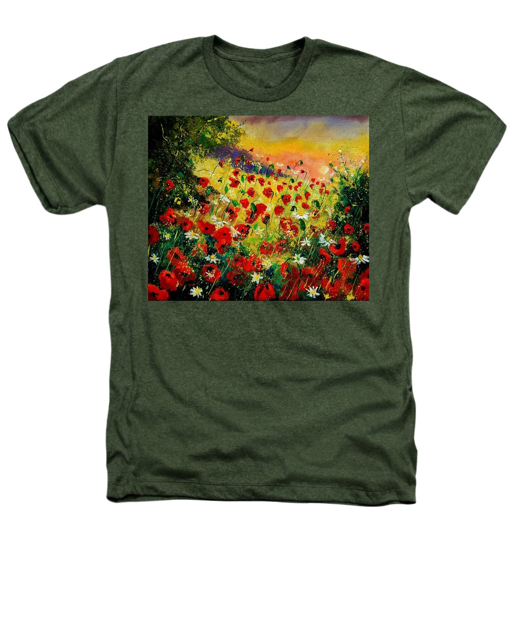 Tree Heathers T-Shirt featuring the painting Red Poppies by Pol Ledent