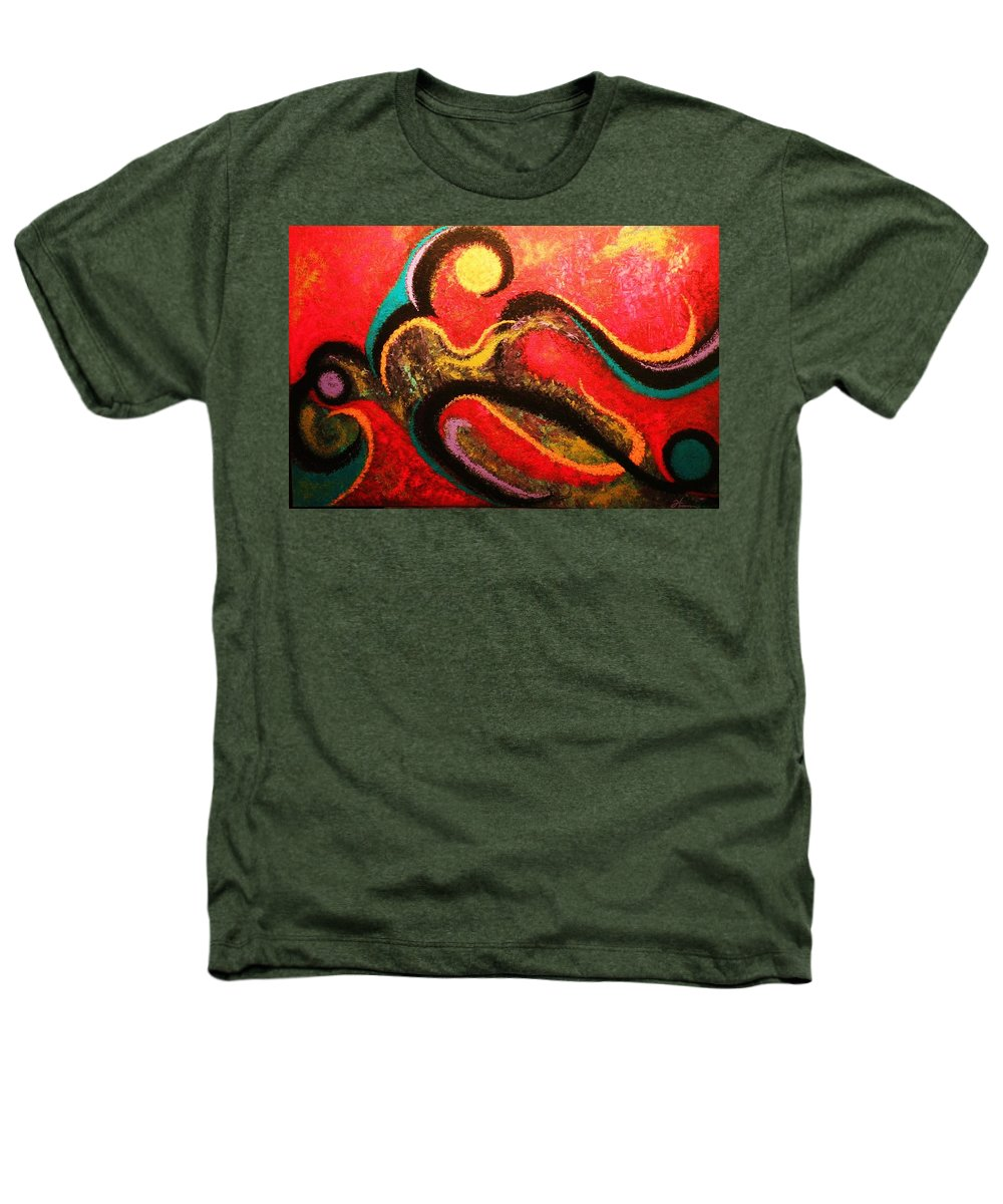 Red Heathers T-Shirt featuring the painting Red Tide by Todd Hoover