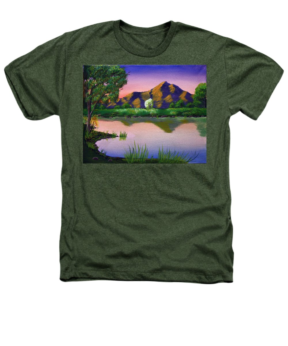 Landscape Heathers T-Shirt featuring the painting Reflections In The Breeze by Dawn Blair