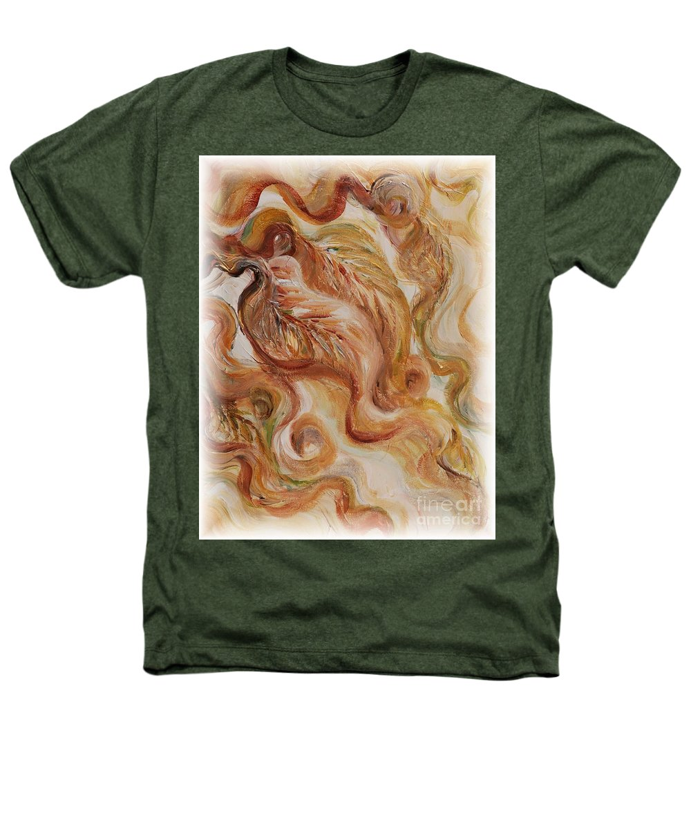 Leaves Heathers T-Shirt featuring the painting Reflective Leaves by Nadine Rippelmeyer