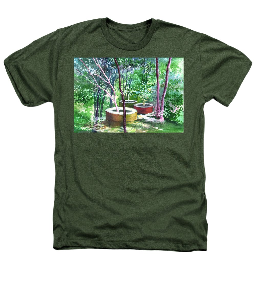 Opaque Landscape Heathers T-Shirt featuring the painting Relax Here by Anil Nene