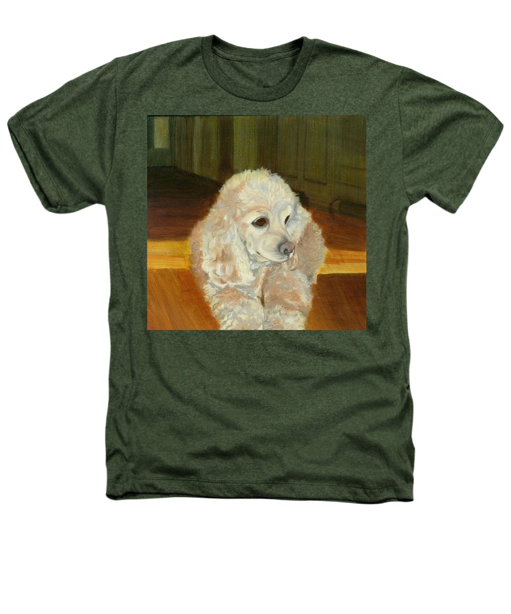 Animal Heathers T-Shirt featuring the painting Remembering Morgan by Paula Emery